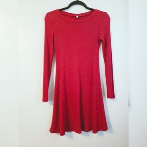 Charlotte Russe red A line sweater dress